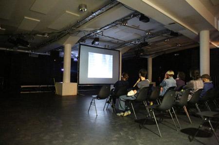 Video in Progress 5 at Kino Šiška, photo: Mihaela Majerhold